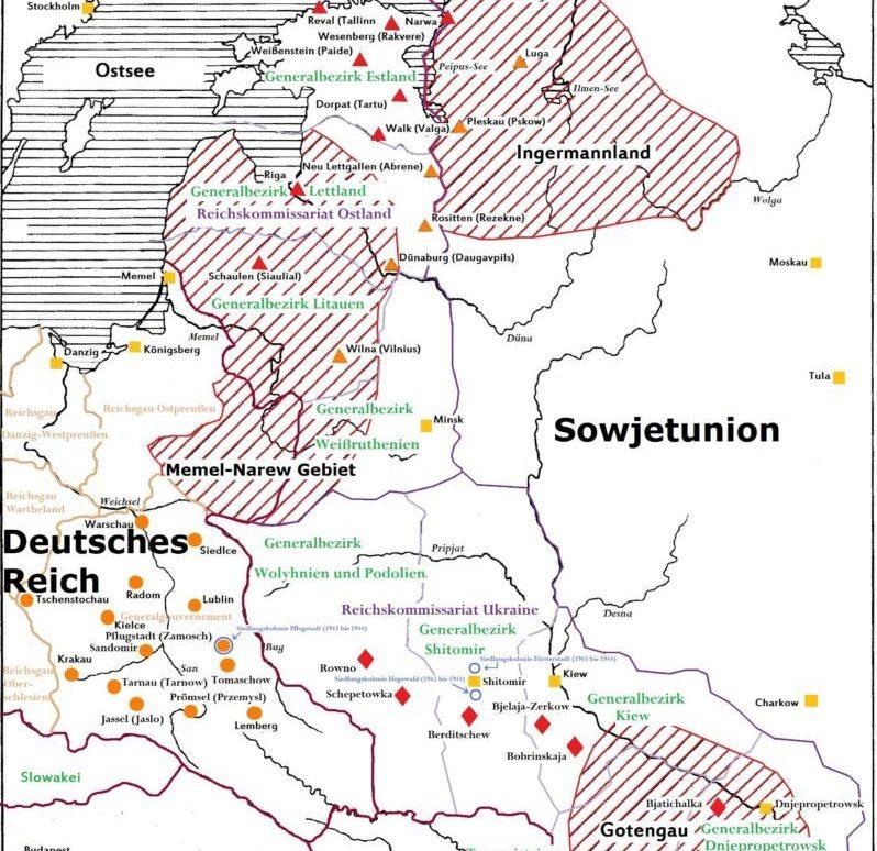 карта реализации плана Ост