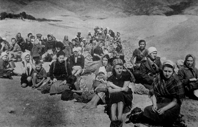 Польские беженцы, фото 1941 год