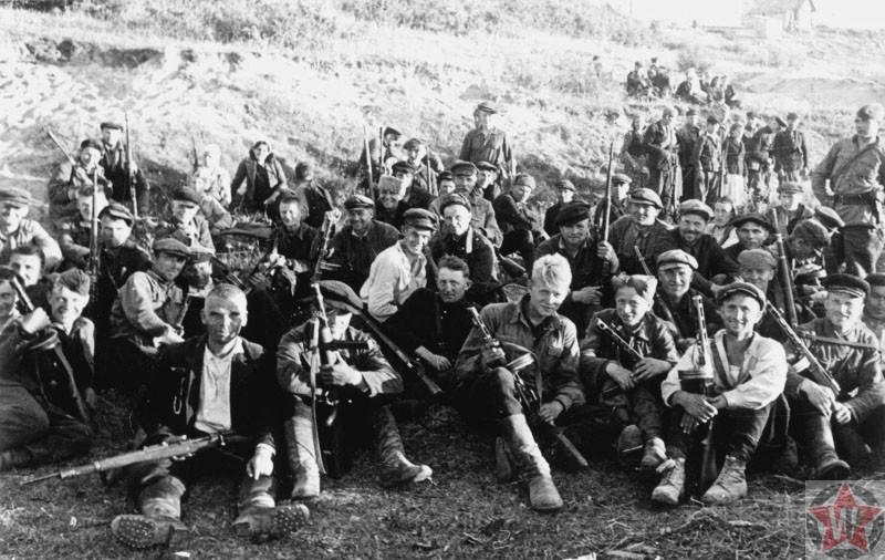 Боевая группа одной из Калининских бригад, фото 1943 год