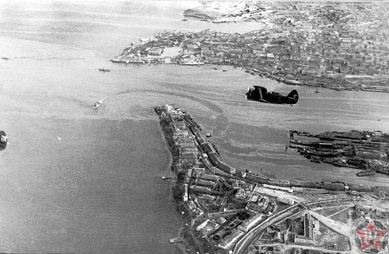 Панорама города Севастополь, фото 1941 год
