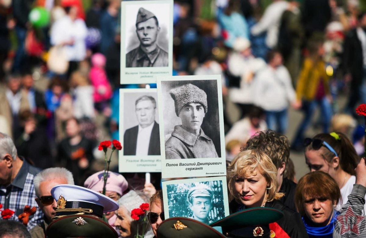 """Первое шествие """"Бессмертного полка"""" в 2012 году в городе Томске"""