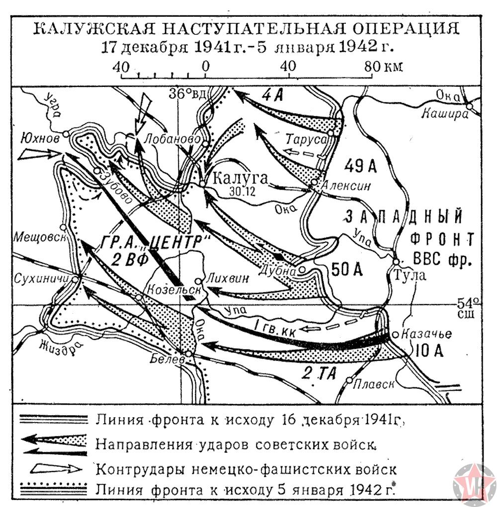 Схема Калужской наступательной операции