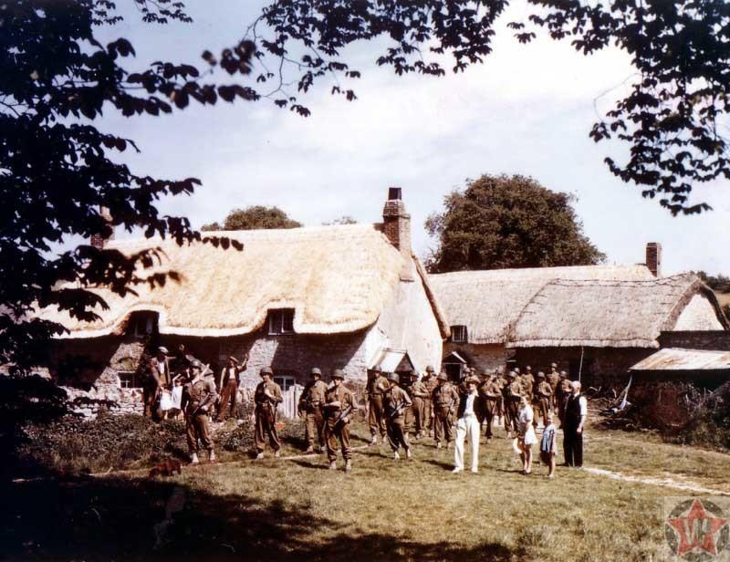 Американские солдаты в ходе подготовки к операции «Оверлорд»