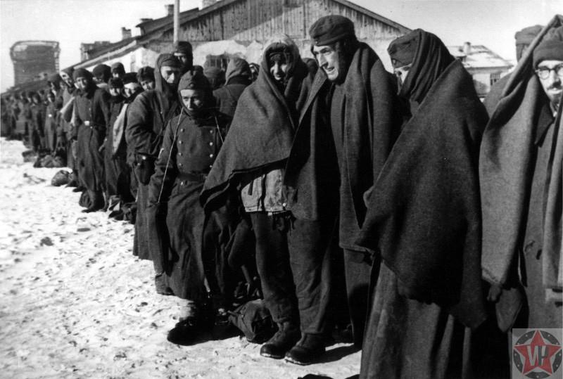 Пленные немецкие солдаты под Сталинградом