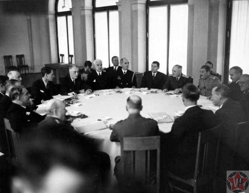 Лидеры «Большой тройки» на Ялтинской конференции