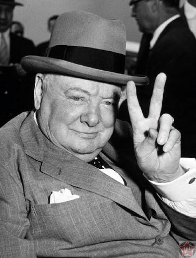 Сэр Уинстон Леонард Спенсер Черчилль.