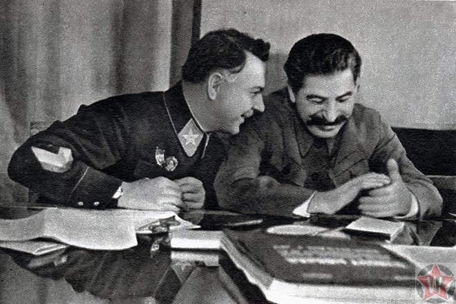 Ворошилов с Иосифом Сталиным