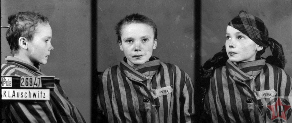 Czeslawa Kwoka четырнадцатилетняя узница концлагеря Освенцим