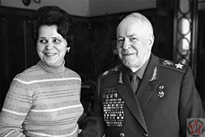 Георгий Жуков с последней женой Галиной