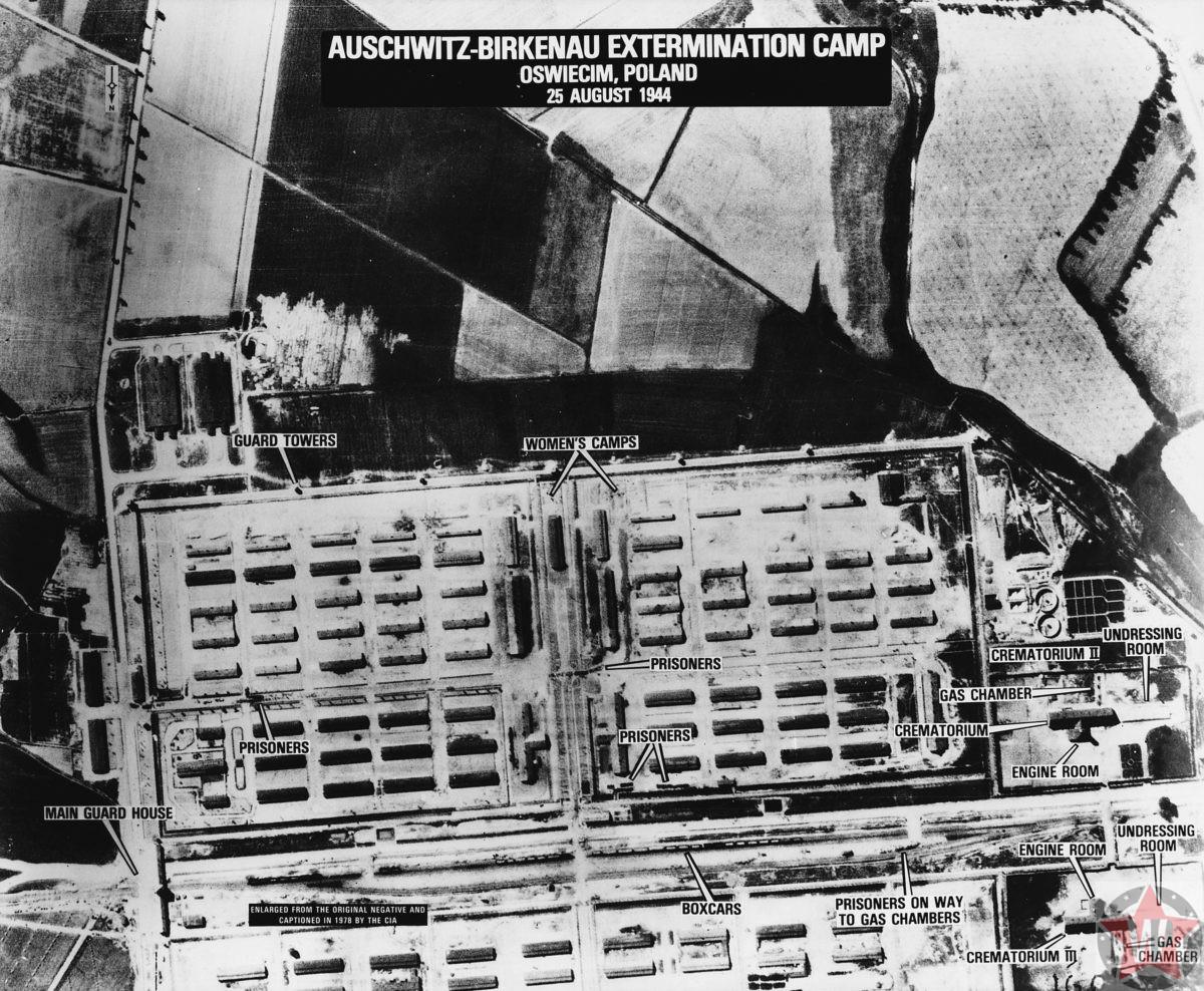 Фото Освенцима с самолётов американской разведки