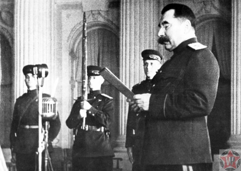 Маршал Советского Союза С.М. Буденный в посольстве СССР
