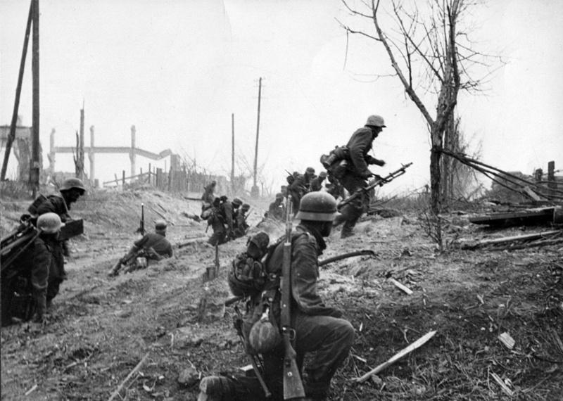Атака немецкой пехоты