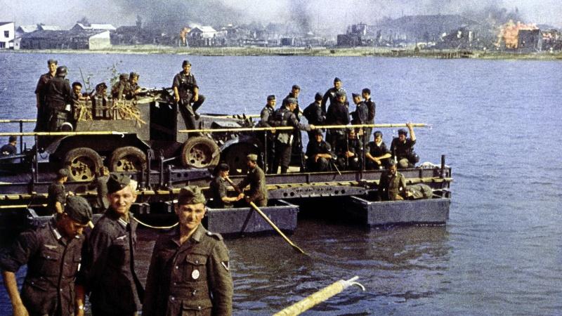 Переправа немецких войск во время операции «Барбаросса»