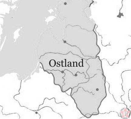 Остланд на карте