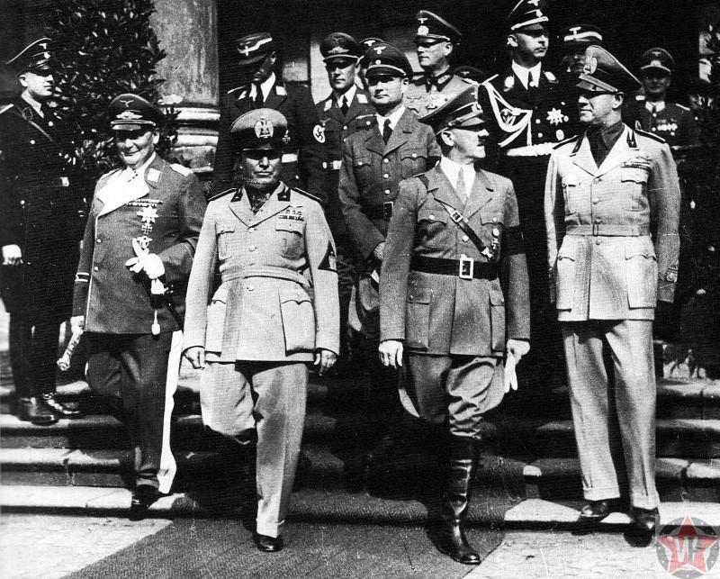 Высшее командование Германии и Италии - «Мюнхенский сговор»