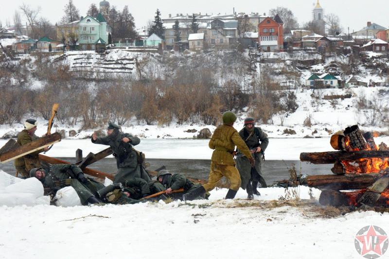 Бой советских и немецких солдат в районе города Елец