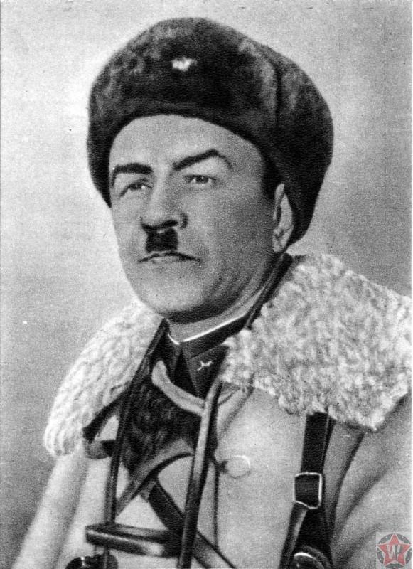 Портрет командира 316-й стрелковой дивизии генерала-майора И.В. Панфилова