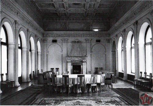 Ливадийскийдворец во время Ялтинской конференции внутри.