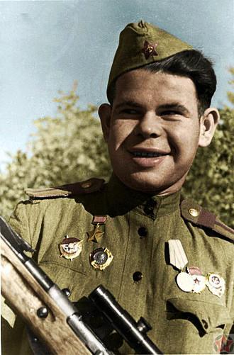 Снайпер Николай Ильин.