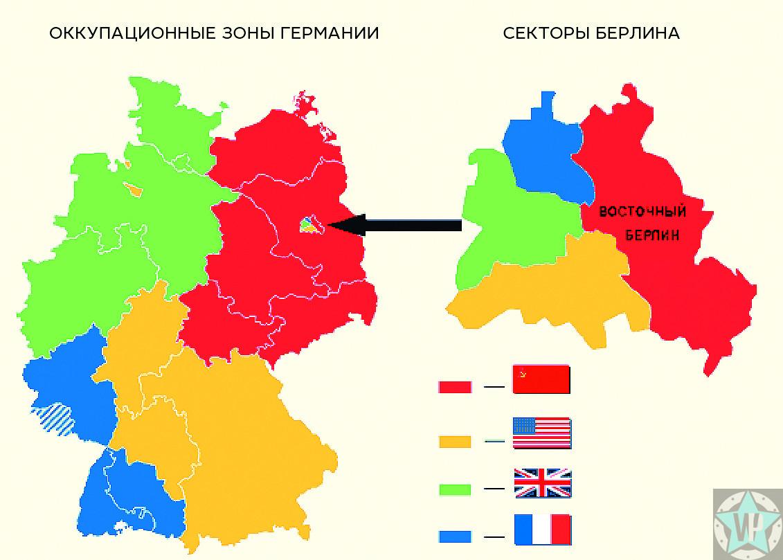 Оккупационные зоны в Германии