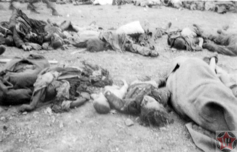 Тела узников, убитых в концлагере Бухенвальд