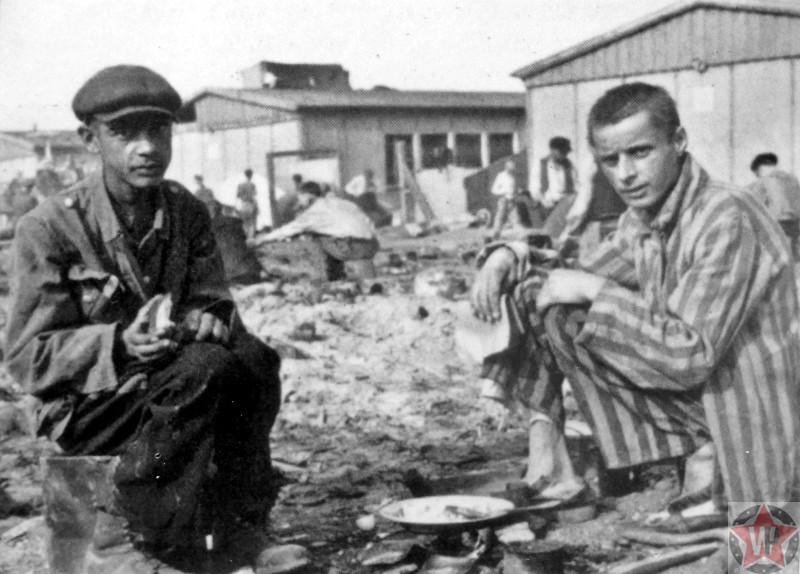 Освобожденные узники концлагеря Дахау